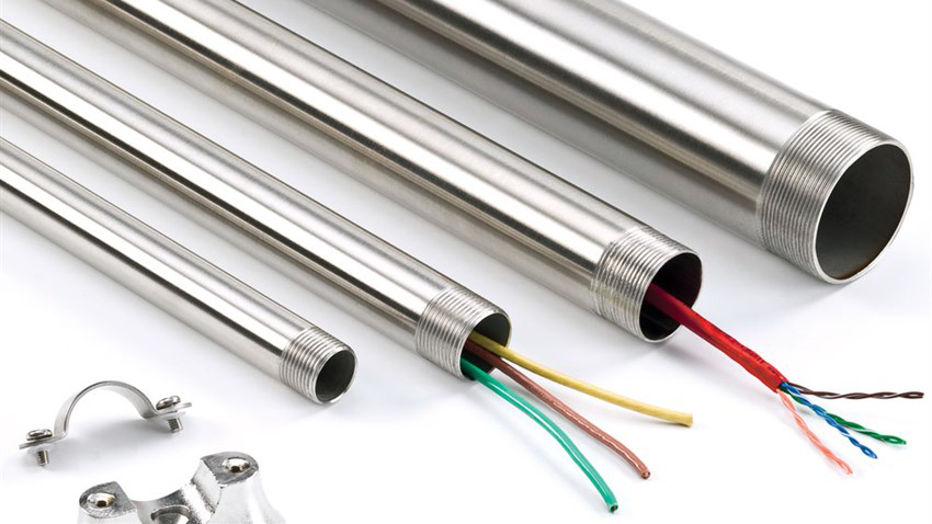 What are the advantages of using stainless steel as conduits?